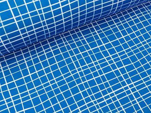 Albstoffe Shield PRO Jersey Grid Bluette-weiß