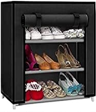 Cmerchants Smart Buy Home Utility Portable Space Saving 3 Layer Shoe Rack Organizer Stand Black