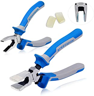 SPEEDWOX Glass Running Pliers and Breaker Grozer Pliers Set 2Pcs with 2 Pair of Rubber Tips Professional Glass Grozing Pli...
