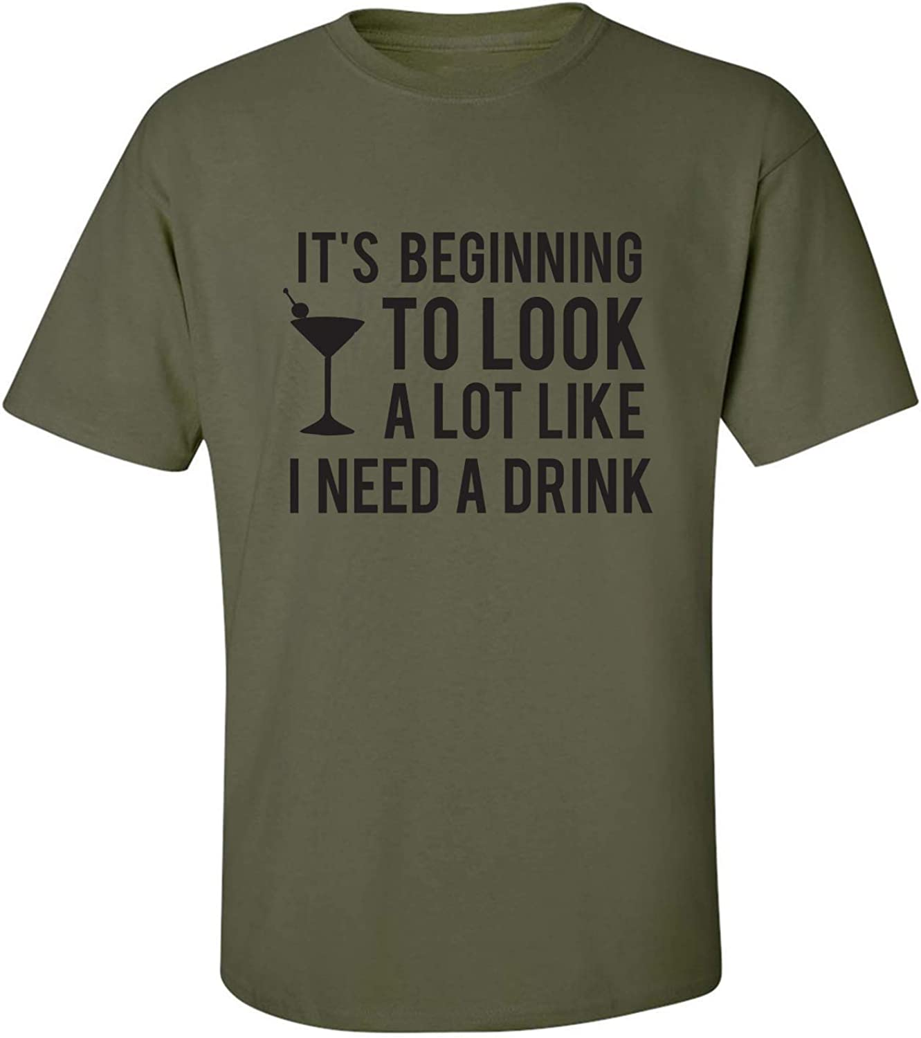 It's Beginning to Look A Lot Like Adult T-Shirt in Military Green - XXXXX-Large