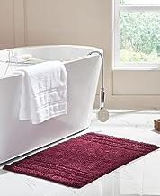 RT Designers Collection Erin 24 x 36 in. Cotton Bath Rug in Burgundy