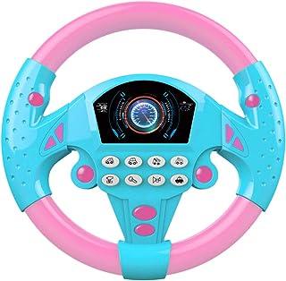 Kawosh Volante per Bambini Giocattolo Volante elettronico Suono sonoro Volante Bambini Guida Simulatore Giocattolo di Simulazione per Auto per Bambini Ragazzi Ragazze