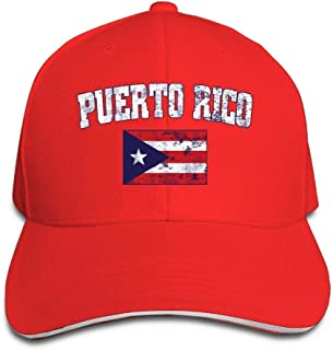 Adjustable Puerto Rico Distressed Flag Baseball Dad Hats Nuyorican Rican Flag Snadwich Snapback Hat Cap for Women Men