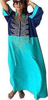 YouKD Long Kaftan Bohemian Kimono Maxi Nightgown Beach Cover Up Dress for Women