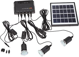 comprar comparacion Docooler 4W Kit de Panel Solar propulsado, 3 Bombillas LED, USB, 5 V Cargador de Teléfono Sistema Casa Kit, Jardín Camping...