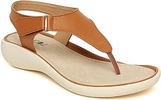BELLA TOES Women's/Ladies/Female's/Girl Synthetic Leather Casual Regular Sandal/Wedges/Fashion/Sandals/Fancy WEAR Casual Footwear_(FL-27-$$p)