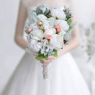 Best artificial white rose bouquet Reviews