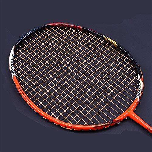 QIAO Badminton-Schläger, Full-Carbon-Badminton-Schläger echt, Ghost Chop Rahmen, Offensive Profi-Schläger,Orange