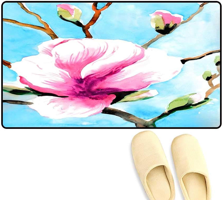 Interior Doormat bluee Sky Pink Magnolia