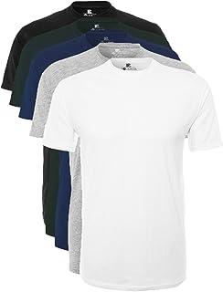 Lower East Herren T- Shirt mit Rundhalsausschnitt aus 100% Baumwolle, 5er Pack