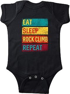 inktastic Rock Climbing Eat Sleep Rock Climb Repeat نوزاد کریر