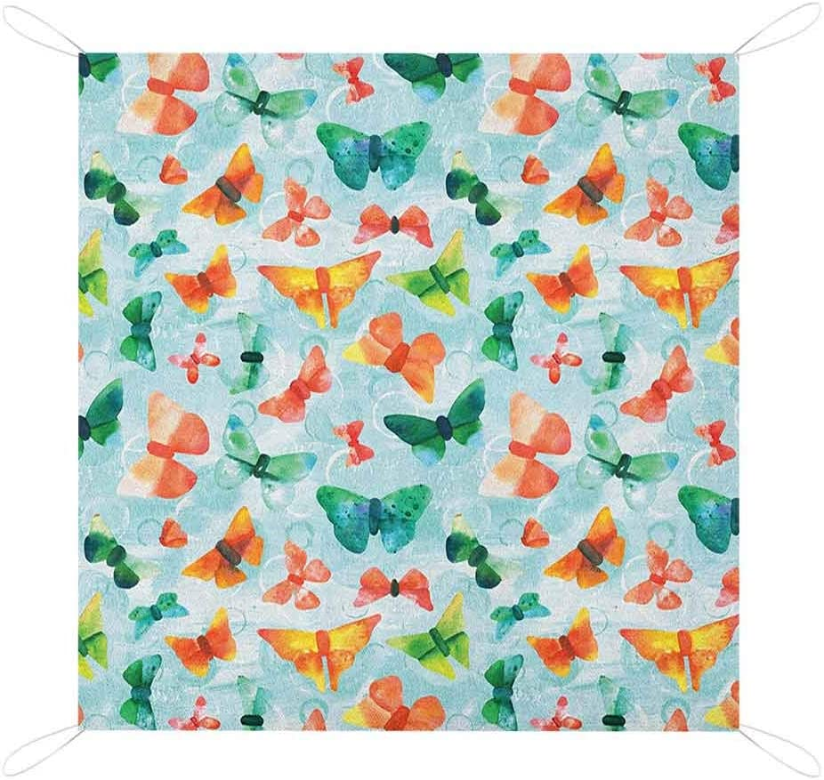 Nomorer Seafoam Sand Free Picnic Mat Watercolor Blanket Butterf Max 57% OFF Max 67% OFF