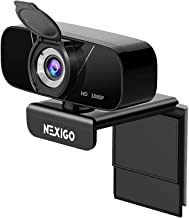 1080P Streaming Webcam with Microphone & Privacy Cover, 2021 NexiGo N620 Web Camera, 90-Degree Wide Angle, for PC/Mac Lapt...