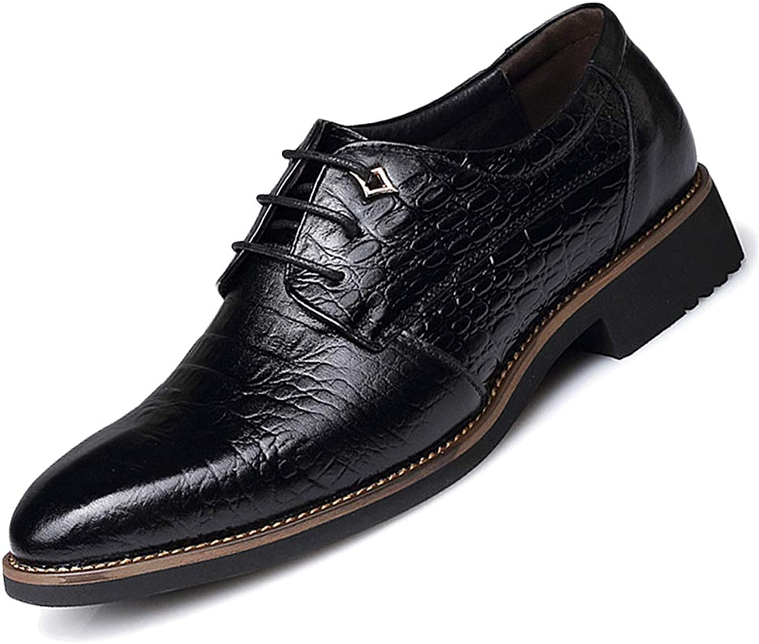 GBRALX Men's Classic Derby Oxford shoes Classic Pointed Toe Lace-ups Casual Non-Slip Party Wedding Dress Uniform shoes