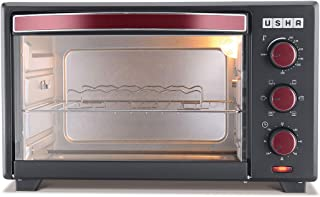 Usha 29L (OTGW 3629R) Oven Toaster Grill (Wine & Matte Black)