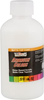 US Art Supply Clear Matte Topcoat Acrylic Airbrush Paint, 8 oz. also great Clear Matte for Acrylic Pouring Art