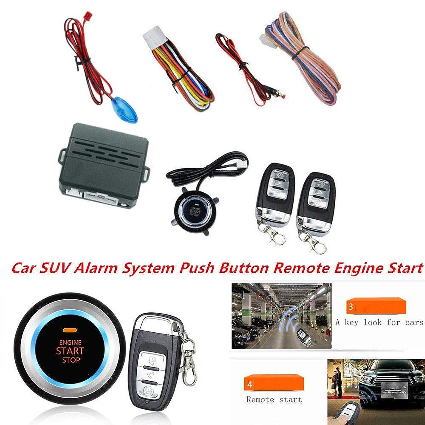FidgetKute Car Auto SUV Alarm System Push Button Remote Engine Start with LED Sensor Lights