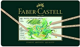 Faber-Castell Pitt Pastel Colour Pencils Tin of 60, Assorted, (27-112160)