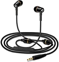 Tuisy Air Tube Headset - Upgraded Anti-Radiation Headphones, EMF Protection Metal Binaural Earbuds Earphone with Microphone and Volume Control, Black