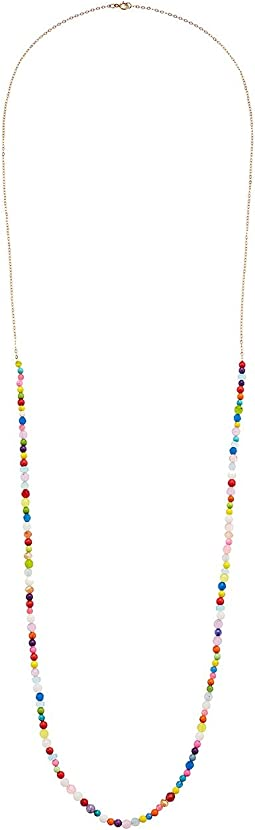 Dee Berkley - Chakra Chain Necklace Sterling Silver with 14KT Gold Overlay and Gemstones
