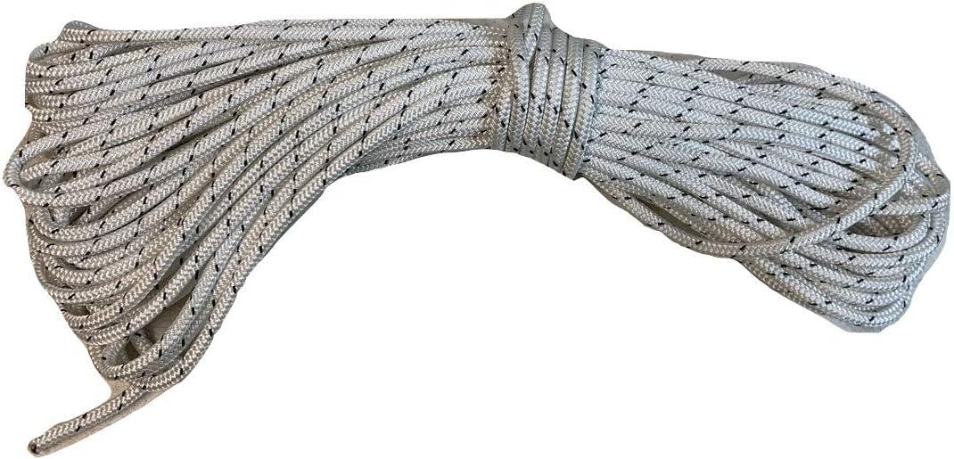 5 当店は最高な サービスを提供します 定価の67%OFF 16 Inch Double Braid Polyester with Rope Black Tracer White