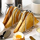 Genware Chrome Horseshoe Toast Rack | Stainless Steel Toast Rack, Horseshoe Toast Holder