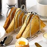 Genware Chrome Horseshoe Toast Rack | Stainless Steel Toast Rack, Horseshoe Toast Holder