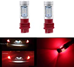 3056 3156 3057 3157 Tail Brake lights Extremely Bright 21 SMD Xenon Red LED Bulb 2835 Chips Turn Signal Blinker Lamp Light (Set of 2)