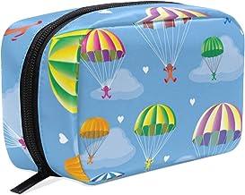Bolsa de maquillaje Extreme Sport sin costuras, colorida bolsa de cosméticos de paracaídas