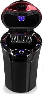 eJiasu Car Ashtray, Car Ashtray Lighter Set Detachable, Car Ashtray with Lid Blue LED Light Indicator for Car, Home, Office and Travel