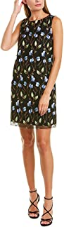 Tahari by ASL Women's Embroidered Vine Motif A-Line Dress