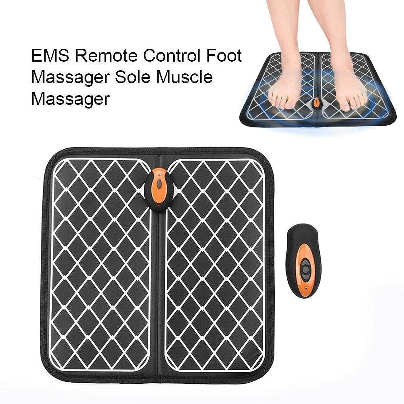 老人削除する倍増EMSリモートコントロールフットマッサージャーマットフットトリートメント、マッサージ用インテリジェント理学療法マッサージ器、痛みを緩和、疲労を軽減