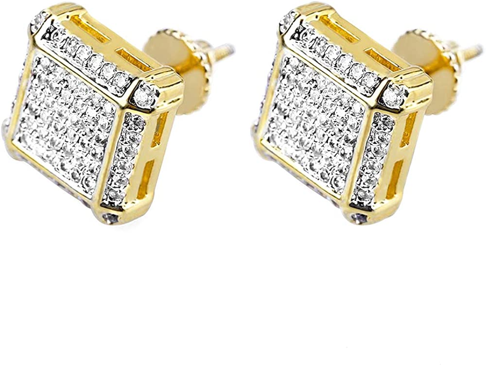 HELLOICE Holiday Gifts Iced Micro Pave Earring Rapp Philadelphia Mall Stud Men Rapid rise for