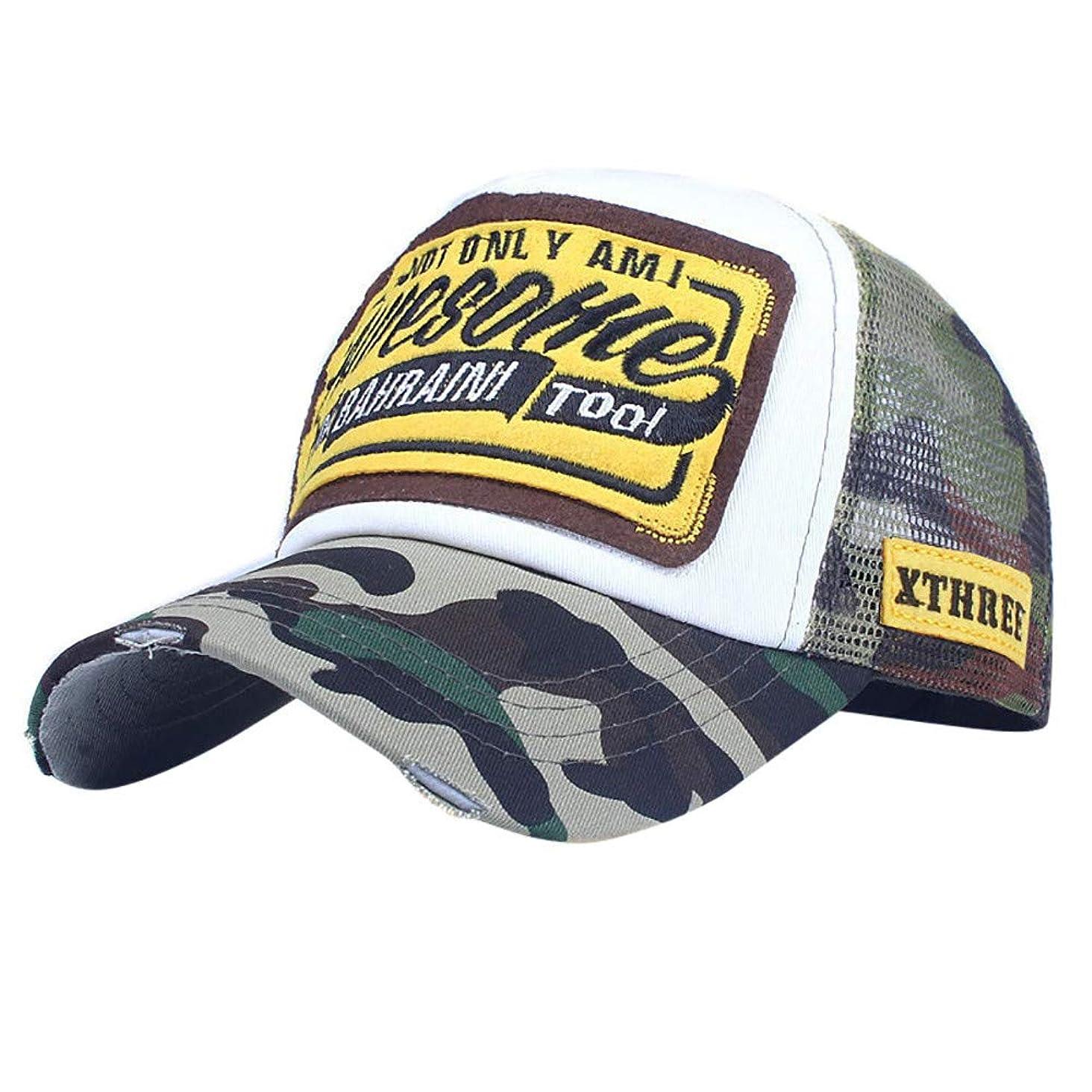 無礼に胚レディRacazing カモフラージュ 野球帽 ヒップホップ メンズ 夏 登山 帽子 迷彩 可調整可能 プラスベルベット 棒球帽 UV 帽子 UVカット軽量 屋外 Unisex 鸭舌帽 Hat Cap