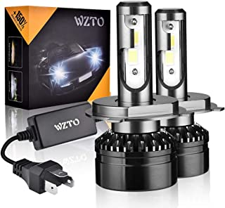 WZTO H4/9003 LED Headlight Bulbs Upgraded CSP Chips, 10000LM 6000K Conversion Kit, 360 Degree Adjustable Beam Angle Headlight Bulbs, High/Low Beam/Fog Light Bulbs (2 PACK)