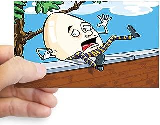 Sticker (Rectangle) Humpty Dumpty Sat On Wall