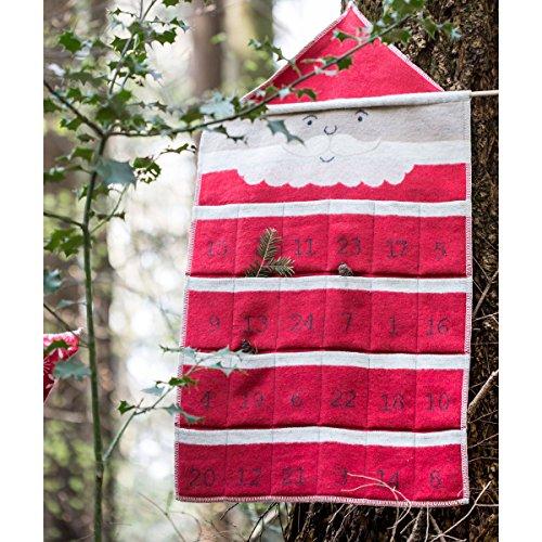 David Fussenegger ADVENTSKALENDER Weihnachtsmann rot 45 x 80 cm