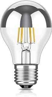 ledscom.de E27 de Cabeza del Espejo LED Bombilla filamento A60 4W =29W Blanca cálida 300lm A+ para Interior y Exterior