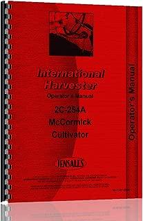 International Harvester Super C Tractor 2C-254A Cultivator Operators Manual