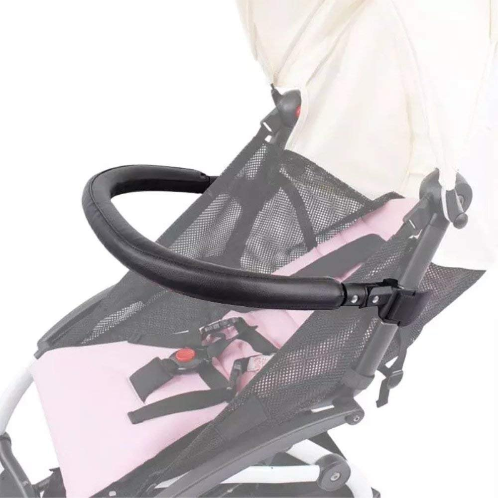 Baby Stroller Bumper Bar,Armrest, Handle, Crossbar Accessories for BBZ YoYo and Yoyo+ Bee3/5,Black PU Leather