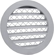 Rejilla de ventilación de aluminio, rejilla de escape, rejilla redonda con mosquitera Rejilla de aluminio.
