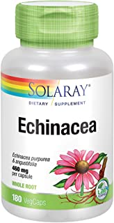 Solaray Echinacea Purpurea & Angustifolia Root 460 mg   Healthy Immune & Respiratory Function Support   180 VegCaps