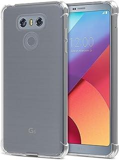 TIYA LG G6 ケース クリア G6 Plus H870DS スマホ 透明 TPU 携帯ケース 薄型 ソフト 背面 クリスタル 純正 全面守る 丈夫な 耐衝撃シリコン 四角 バンパー 傷つけ防止 保護 四隅の厚 いエアバッグ 新しい
