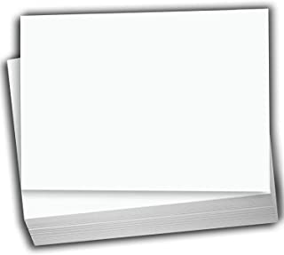 "Hamilco White Cardstock Thick Paper - Blank Index Flash Note & Post Cards - Greeting Invitations Stationary 4 X 6"" Heavy W..."