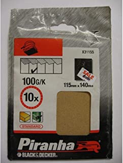 Piranha 100 g Quarter Sheet Un-Punched Brown Alox - Set of 10 by BLACK+DECKER