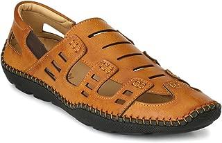 Levanse Men's Leather Brown Casual Sandal