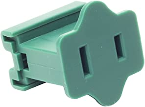 Queens of Christmas Green SPT1 Slide on Female Electrical Receptacle