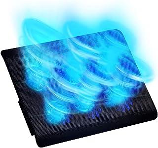 ノートパソコン用冷却パッド ノートブック ノートパソコン用冷却台 PCゲーム冷却フアン 6ファン数組合せパタン ブルーLED搭載 高度調節 超静音 スタンド折畳み