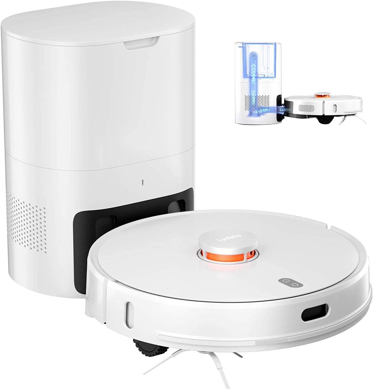 Lydsto R1 Robot Aspirador con función de fregado Robot Aspirador 2 en 1 2700Pa 1000W 3L estación de succión automática navegación láser para Alfombra de Pelo de Animal