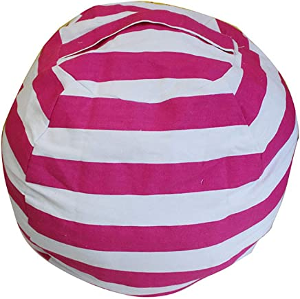 OOFAYWFD Canvas Stuffed Animal Storage Bean Bag Chair Kids Plush Toy Clothes Quilts Organizer 2 Small